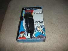 RARE  NEW AND SEALED REMINGTON INSTRUCTION VIDEO  HOW TO CUT HAIR AT HOME