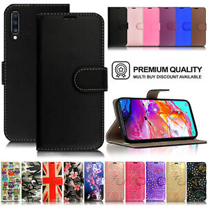 Case For Samsung Galaxy A40 A50 A70 Premium Leather Flip Wallet Phone Cover