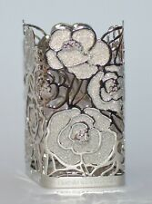 NEW BATH BODY WORKS SILVER ROSES GLITTER GENTLE FOAMING HAND SOAP SLEEVE HOLDER