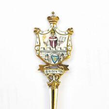 Andenkenlöffel Siegen Silber 800 Punze KFK vergoldet um 1910