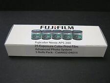 5 Roll Box Fujicolor APS 200 25 Exp Fuji Color Print Film Nexia Advantix