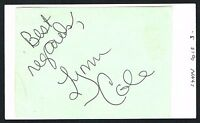 Lynn Cole signed autograph 3x5 index card Actress in Quarantine 2: Terminal