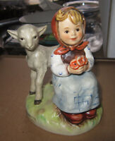 "Vintage  Goebel Hummell ""Good Friends""  #182 girl with lamb,  mint"
