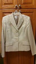Le Suit Ladies Ivory Skirt Suit - Size 10
