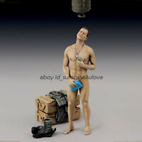 1:35 Scale Unpainted Soldier In The Bath Garage Kit Resin Figure Model Statue