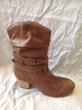 Jones Boot Maker Brown Mid Calf Leather Boots Size 37