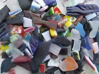 YK * 100grams CHUNKY CULTURED SEAGLASS BITS & PIECES for MOSAIC VARIOUS SIZES