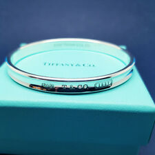TIFFANY & CO SOLID STERLING SILVER OVAL 1837 BANGLE -  MINT, REAL, ASSAY TIFFANY