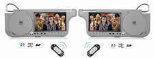 2018 PAIR DUAL HD DIGITAL SUNVISOR VISOR MONITORS SCREENS LCD CD MP3 DVD PLAYER