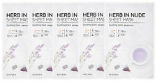 MISSHA (NEW) HERB IN NUDE SHEET MASK (Soothing Care) 23gx5sheets