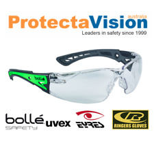 Brand New - Bolle Rush Plus GLOW - Clear Safety Glasses - Glow in the dark