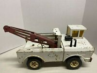 """Vintage 1970's Mighty Tonka AA Wrecker Dual Boom Tow Truck 16""""  Rebuild Or Parts"""