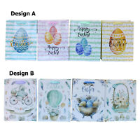 6/12pcs Easter Gift Bags Bunny Eggs Cardboard Paper Party Loot Favors S M L XL