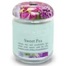 Candle Sweet Pea Flower in Jar Heart & Home Floral Scented 80 Hours Large