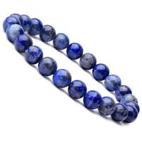 Natural 8mm Unisex Gorgeous Lapis Lazuli Healing Crystal Stretch Beaded Bracelet