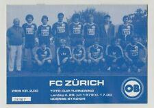 Orig.PRG   IFC - Intertoto Cup 1979   ODENSE BK - FC ZÜRICH  !!  SELTEN