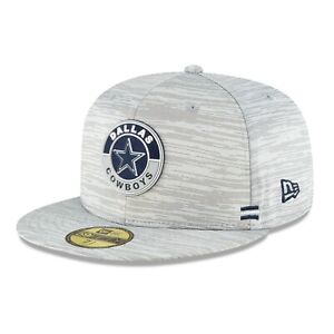 Dallas Cowboys New Era NFL Sideline 59Fifty Fitted Dolphin Grey hat cap