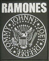 RAMONES AUFNÄHER / PATCH # 18 JOHNNY JOEY DEEDEE TOMMY - 10x8cm