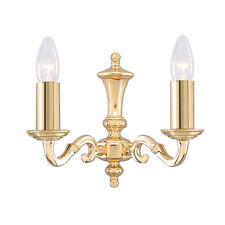 Searchlight 2172-2NG Seville Polished Brass 2 Light Wall Bracket
