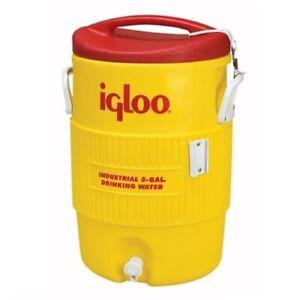Igloo 451 5-Gallon Hi-Vis Yellow Industrial Heavy Duty Drinking Water Cooler