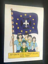 Autocollant scoutisme FSC 1994 Mitacq no Patrouille des castors TBE