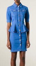 LOVE MOSCHINO  peplum waist denim dress Size UK 8