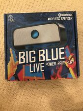 Brookstone Big Blue Audio Live Wireless Bluetooth Speaker Portable Chargeable