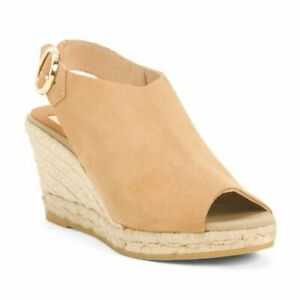 Kanna Tan Suede Wedges size 9