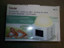NEW Beurer wl30 Light Alarm Clock Sunrise Simulation Radio