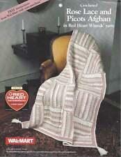 Yarn Crochet Afghan PATTERN Lace & Picots Afghan