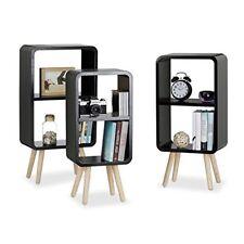 Relaxdays Étagère 2 compartiments Bibliothèque bois MDF 4 pieds Commode Table...