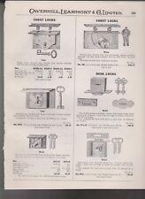1932 catalog pages advertising vintage CHEST LOCKS DRAWER LOCK & TRUNK LOCKS