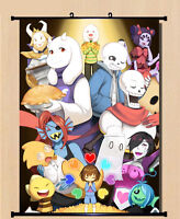 Hanging Wall Scroll Anime Poster - 033 Game Undertale Sans And Papyrus 40*60cm
