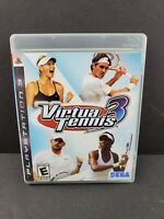 Virtua Tennis 3 (Sony PlayStation 3 PS3, 2007) Complete Game w/Manual TESTED
