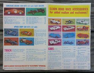 Original 1960's Vintage ELDON ROAD RACE ACCESSORIES Order Pamphlet 1/32 Scale