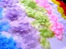 70 Organza Tulle Daisy Sheer Flower Applique 7 Colors/trim/dress/Craft/SALE H173