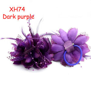 Feather Flower Corsage Hair Clips Fascinator Bridal Wedding Woman Party Dress up