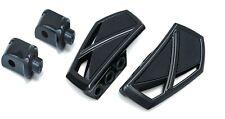 Kuryakyn Gloss Black Phantom Mini Floorboards Front Adapters Yamaha Stryker
