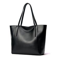 Women Genuine Leather Handbags Simple Ladies Hand Bag Large Bucket Tote Bag New