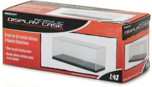 55023 Greenlight Collectibles 1:43 Acrylic Case with Plastic Base Stackable NEW!