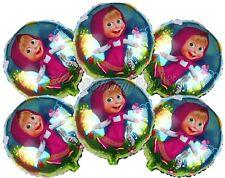 (6) pcs Masha and the Bear Balloons Birthday Party Supplies