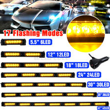"5.5"" 12"" 18"" 24"" 30"" 35"" 41"" LED Emergency Warning Flash Strobe Light Bar Amber"