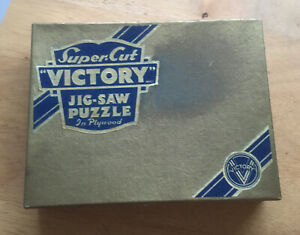 """Vintage Gold box Victory Super Cut  jigsaw puzzle, """"Dream Valley""""- 100 pieces"""