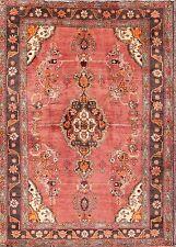 "Excellent Geometric Pink Color 5x7 Bidjar Persian Oriental Area Rug 6' 7"" x 4' 9"