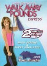 Leslie Sansone WALK AWAY THE POUNDS EXPRESS WALK STRONG & SUPER CHALLENGE DVD