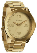 New Nixon Men's Corporal SS Gold Stainless Steel Quartz Watch  A346502