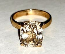 12.75 cts  Of Crystal Clear Kunsite Set On 14kt Yellow Gold Ring Size 7