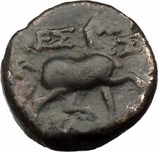 Larissa in Thessaly 196Bc Ancient Greek Coin Athena Cult Magic Horse i36504