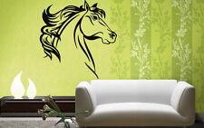 Horse Head Mustang Bronco Animal Kids Decor Wall MURAL Vinyl Art Sticker z773