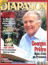 Diapason #417 -Georges PRETRE- Numéro spécial festivals, essai Hi-fi 6 casques